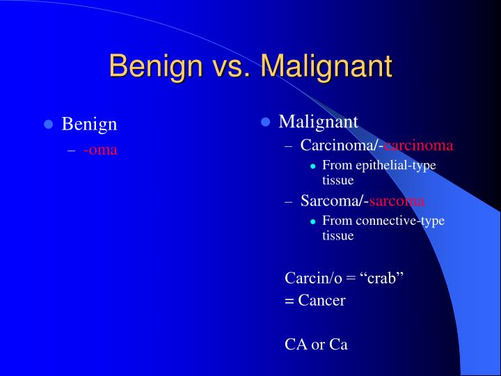 malignant meaning in medical terms