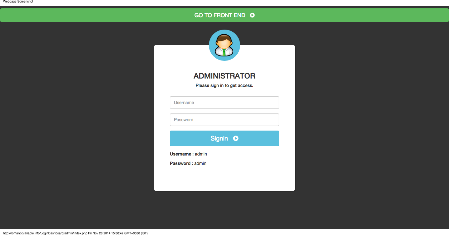create an application with username login session consistent