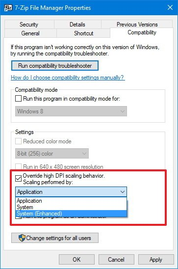 how to change opening application windows 10