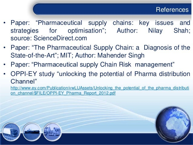 supply chain risk assessmnt in pharmaceuticals pdf