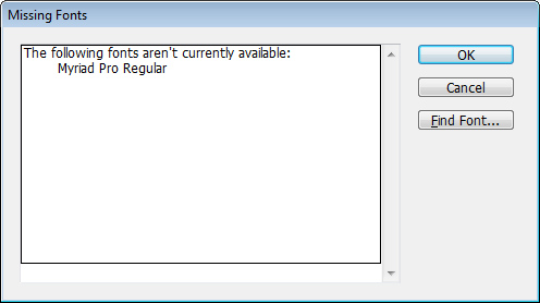 how to fix missing font in pdf