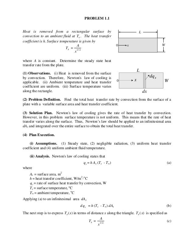 heat transfer problems and solutions pdf