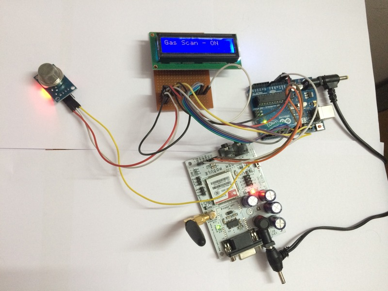 arduino uno project gas sensor detect with lcd pdf