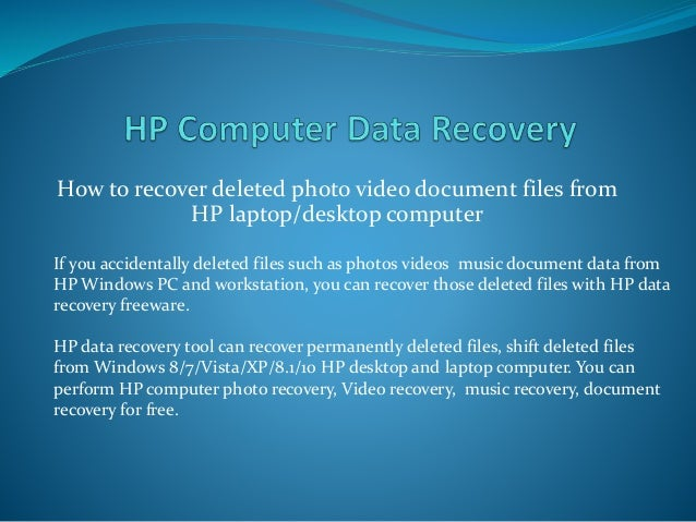what is the huge free recover data application