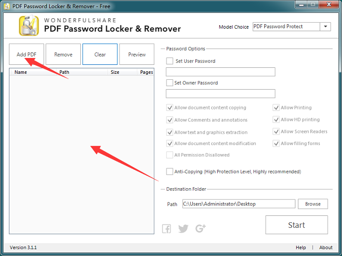 how to lock a pdf file and add a password