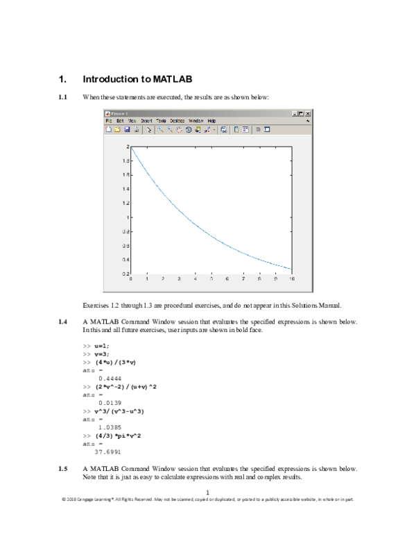 matlab exercises and solutions pdf
