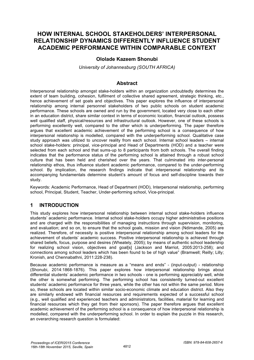 university doctors student relationship and academic performance pdf