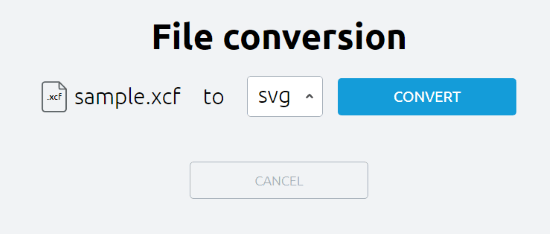 convert from xcf to pdf