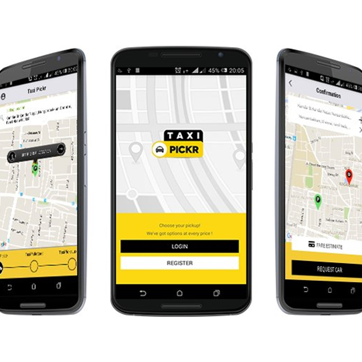 creating an.uber like application android