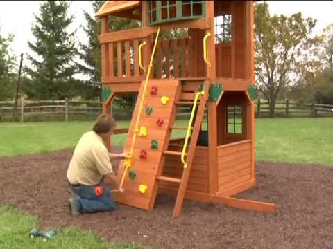 wooden swing set assembly instructions