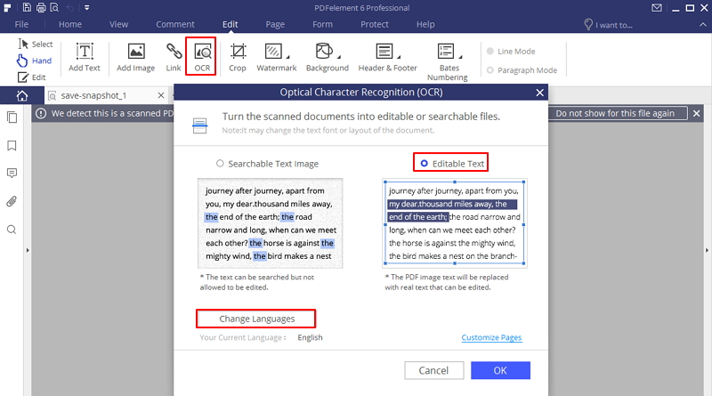 convert pdf to word using ocr online
