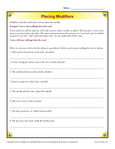 misplaced modifiers exercises with answers pdf