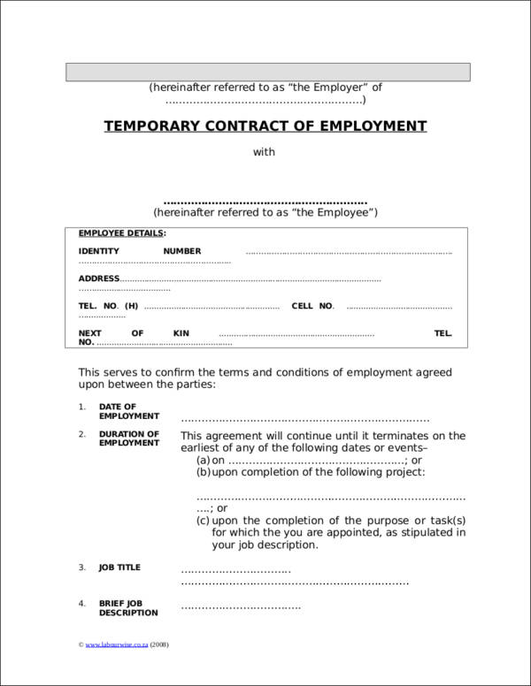 types of employment contracts pdf